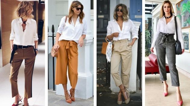 Camisa branca com calça social