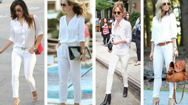 Camisa branca monocromática