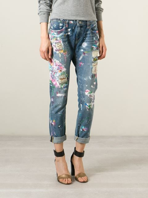 jeans pintada