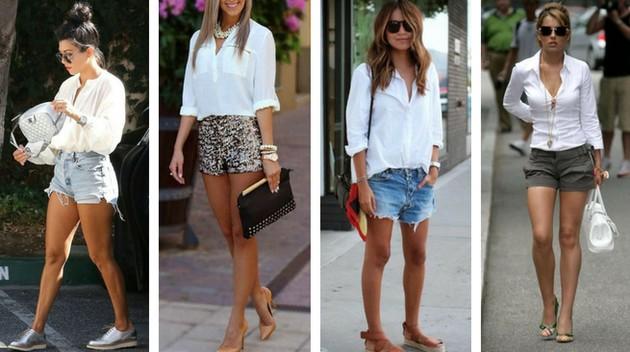 Camisa branca com short