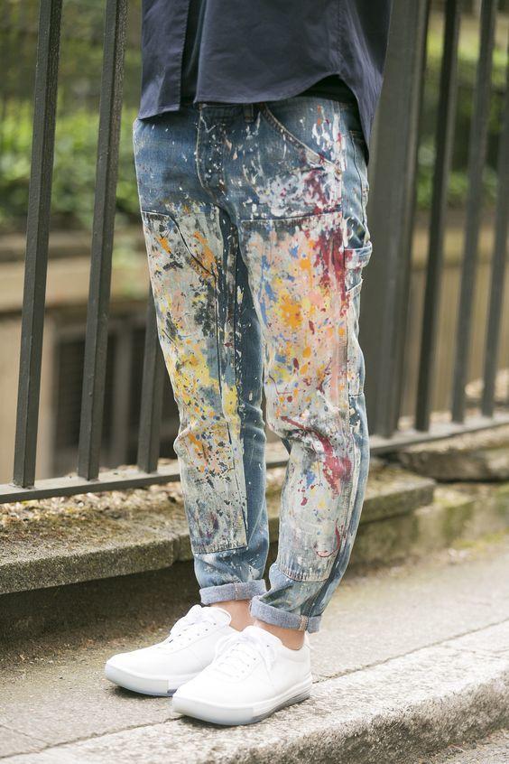 calça pintada