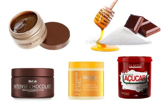 Chocolate, mel e açúcar para cabelos cacheados