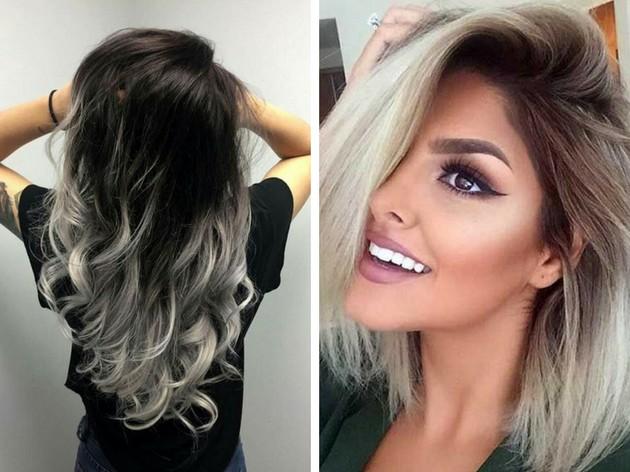 Ombré Hair Platinado A Tonalidade Radical Que Está Super Na