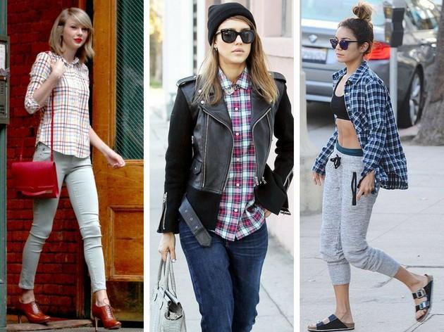 03f36568a As famosas abusam da camisa xadrez em diferentes estilos (Imagens   Pinterest)