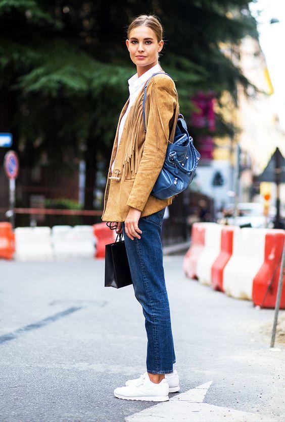 Inspire-se no estilo country: jaqueta com franjas