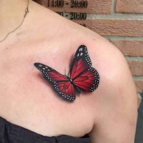 25 opções modernas para tatuagem de borboleta