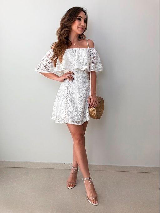 25 modelos incríveis para arrasar com vestido branco curto!