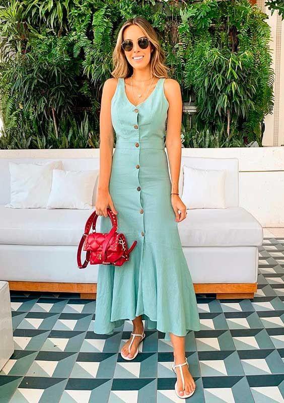 Looks com vestido verde para você se inspirar!