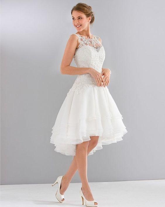 f06a0737e Vestido de renda curto  inspire-se com lindos modelos - Eu Total