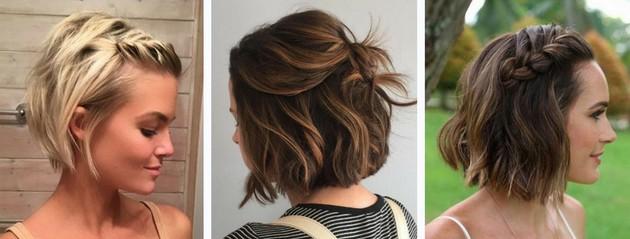 Lindos Penteados Para Cabelos Curtos Que Te Ajudarão A Fugir