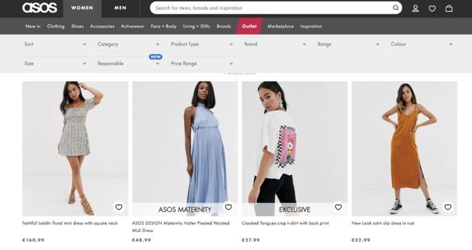 10 melhores sites de compra online: Asos