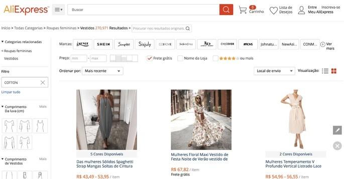 10 melhores sites de compra online: Ali Express
