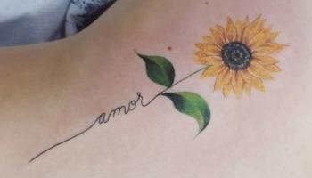 Tatuagem de girassol: 55 opções de desenhos para você escolher