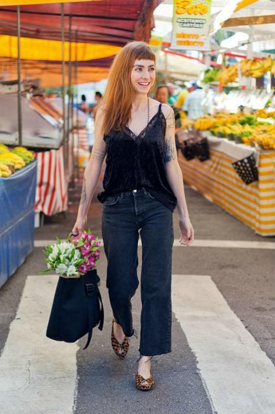 tendências de verão com calça jeans