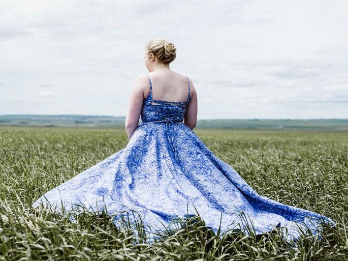 vestido de 15 anos azul