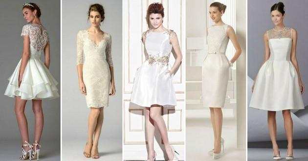 c87319126b 30 vestidos de noiva curtos para você fugir do básico no grande dia ...